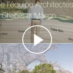 Video of the team of architects and the scenographer - Cité in Chablis and Mâcon